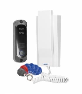 Zestaw domofonowy jednorodzinny z interkomem i czytnikiem breloków zbliżeniowych, biały AVIOR Orno OR-DOM-JA-928/W