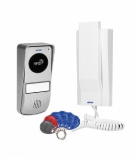 Zestaw domofonowy 1-rodzinny natynkowy z czytnikiem breloków, MIZAR Orno OR-DOM-AT-929/W