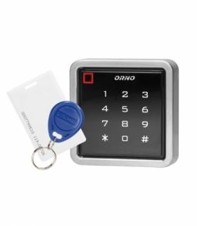 Zamek szyfrowy dotykowy z czytnikiem kart i breloków zbliżeniowych, IP68, 1 przekaźnik 3A Orno OR-ZS-816