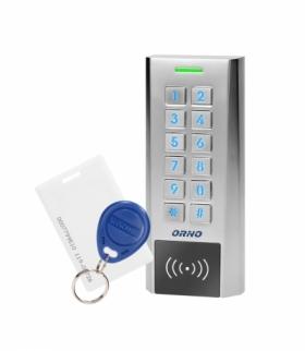 Zamek szyfrowy wąski z czytnikiem kart i breloków zbliżeniowych, IP66 , 2 przekaźniki 2A, wymiary 134x55,5x21 Orno OR-ZS-818