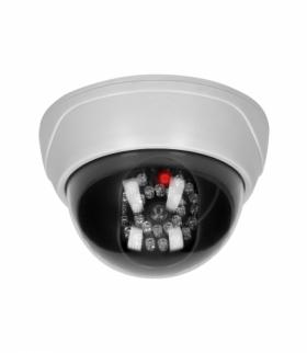 Atrapa kopułowej kamery monitorującej z podczerwienią CCTV, bateryjna Orno OR-AK-1209