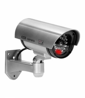 Atrapa kamery monitorującej CCTV, bateryjna, srebrna Orno OR-AK-1208/G