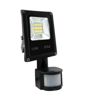 OLIMP LED S 10W BLACK 4500K Naświetlacz SMD LED z czujnikiem ruchu