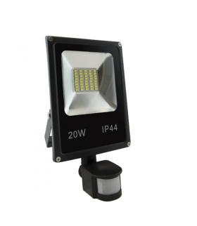 OLIMP LED S 20W BLACK 4500K Naświetlacz SMD LED z czujnikiem ruchu