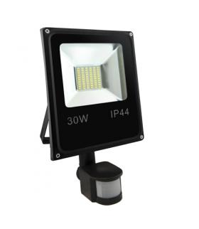 OLIMP LED S 30W BLACK 4500K Naświetlacz SMD LED z czujnikiem ruchu