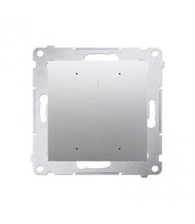 Sterownik przyciskowy oświetleniowy SWITCH D WiFi srebrny matowy metalizowany DEW2W.01/43