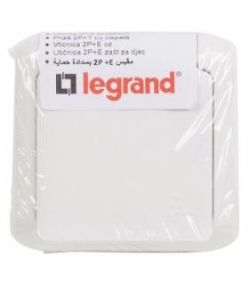 FORIX IP44 ŁĄCZNIK SCHODOWY 10 AX + GNIAZDO 2P+Z 16 A - 250 V BIAŁE Legrand 782376