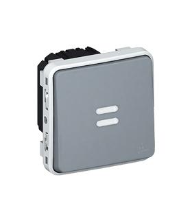 PLEXO IP55 Łącznik czasowy podświetlany SZARY 230V Legrand 069504