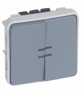 PLEXO IP55 Łącznik schodowy + przycisk podświetlany 10AX-250V Legrand 069519