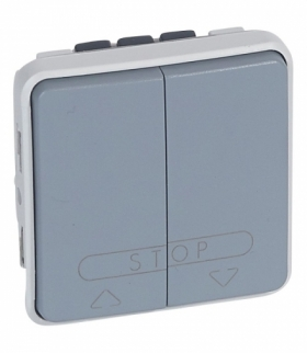 PLEXO IP55 Łącznik sterowania roletami (blokada mechaniczna) SZARY 10A-250V Legrand 069539