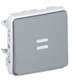 PLEXO IP55 Przycisk jednobiegunowy podświetlany SZARY 10A-250V Legrand 069542