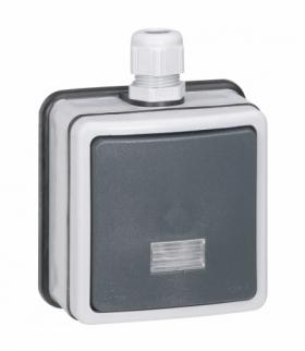 PLEXO IP66 Przycisk przełączny NO/NC 6 A - 250 V - komplet natynkowy Legrand 090462