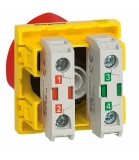 MOSAIC Wyłącznik awaryjny odblokowywany kluczem Żółty/Czerwony Legrand 076601