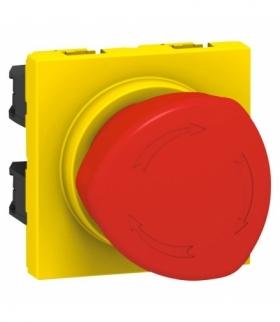 MOSAIC Wyłącznik awaryjny odblokowywany przez obrót gałki Żółty/Czerwony Legrand 076602