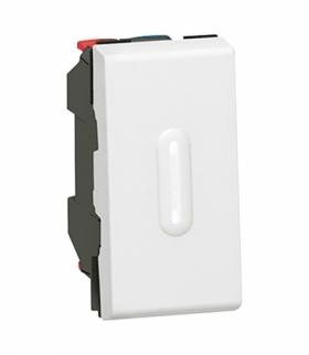 MOSAIC Łącznik schodowy 10 AX 250 V z możliwością podświetlenia 1 modułowy Biały Legrand 077002