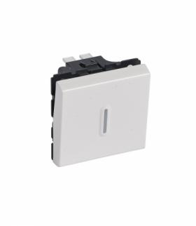 MOSAIC Łącznik schodowy 10 AX 250 V z możliwością podświetlenia 2 modułowy Biały Legrand 077012