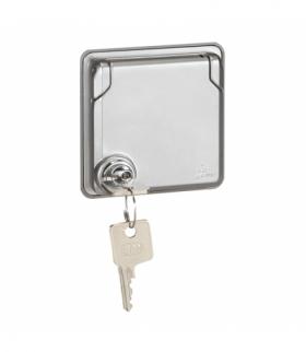 Soliroc Gniazdo 2P+Z z klapką zamykana na klucz 16 A - 250 V Legrand 077833