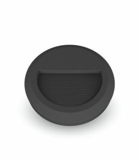 Oprawa Schodowa LED VT-1142 230V okrągła czarna barwa neutralna IP65