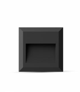 Oprawa Schodowa LED VT-1152 230V kwadrat czarna barwa neutralna IP65