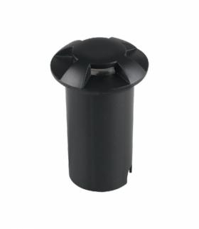Oprawa Gruntowa 1W LED Czarna 4-stronna IP67 VT-1171 6500K 10lm