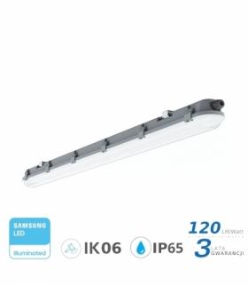 Oprawa Hermetyczna LED V-TAC SAMSUNG CHIP M-SERIES 48W 150cm 120LM/W ML VT-150048 4000K 5760lm 3 Lata Gwarancji
