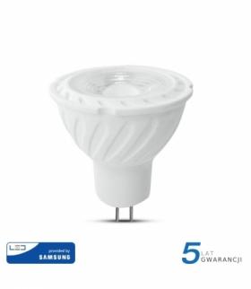 Żarówka LED V-TAC SAMSUNG CHIP 6.5W GU5.3 MR16 12V 110st VT-257 6400K 450lm 5 Lat Gwarancji
