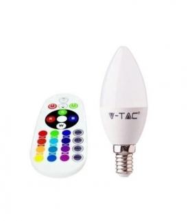 Żarówka LED V-TAC 3.5W E14 Świeczka Pilot VT-2214 4000K+RGB 320lm