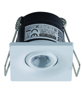 LAURA LED 1W MATCHR  Sufitowa oprawa punktowa POWER LED 230V  1W -70lm