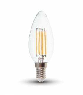 Żarówka LED V-TAC 4W Filament E14 Świeczka VT-1986 2700K 400lm