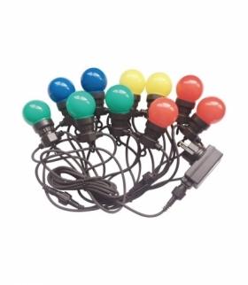 Girlanda Ogrodowa V-TAC (sznur) LED 5 metrów 10 żarówek 0,5W VT-70510 RGBY 300lm