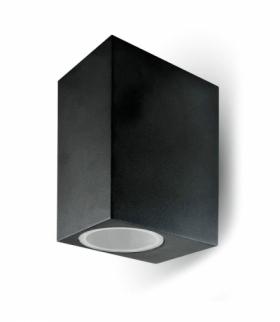 Kinkiet Ścienny V-TAC GU10 Aluminium Kwadrat Czarny Góra Dół IP44 VT-7652