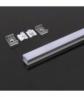 Profil Aluminiowy V-TAC 2000x17.2x15.5mm Klosz Mleczny VT-8110