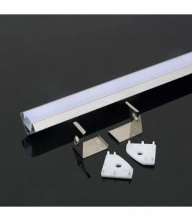 Profil Aluminiowy V-TAC 2000x19x19mm Klosz Mleczny VT-8114