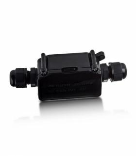 Puszka Złącze kablowe, mufa Hermetyczna V-TAC Czarna VT-7224