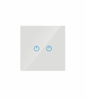 Włącznik Dotykowy Szklany Podwójny Biały V-TAC VT-5112