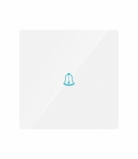 Przycisk Dzwonkowy Szklany Pojedynczy Biały V-TAC VT-5411