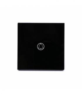 Przycisk Dzwonkowy Szklany Pojedynczy Czarny V-TAC VT-5411