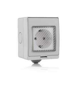 Gniazdo Hermetyczne WiFi IP54 V-TAC Amazon Alexa, Google Home, Nest VT-5000