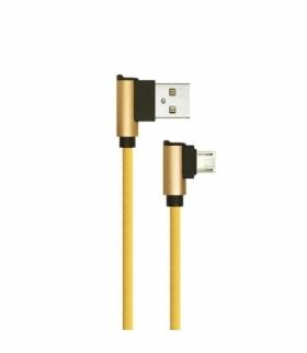 Przewód Micro USB V-TAC 1M Złoty Wtyk Kątowy Seria Diamond VT-5361