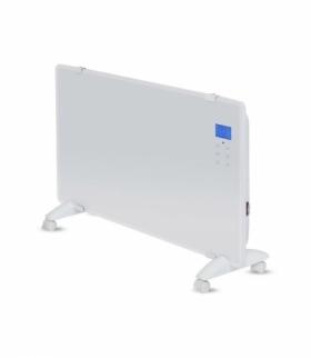Grzejnik Panelowy Szklany 2000W LED Biały PILOT LCD TIMER V-TAC VT-2000WRD