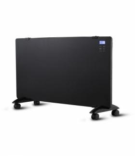 Grzejnik Panelowy Szklany 2000W LED Czarny PILOT LCD TIMER V-TAC VT-2000WRD