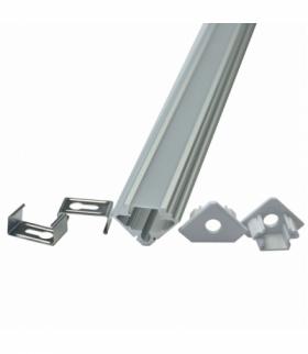 VT-7104 Profil Aluminiowy do paska LED, 2000mm, Klosz Mleczny, Opk. 2 szt.
