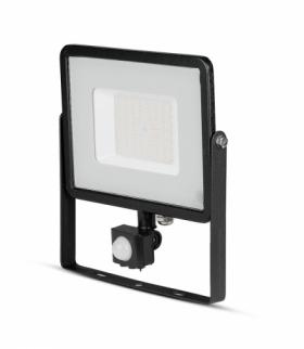 Projektor LED V-TAC 50W SAMSUNG CHIP Czujnik Ruchu Funkcja Cut-OFF Czarny VT-50-S 4000K 4000lm 5 Lat Gwarancji