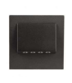 Oprawa LED NAVI PT 230V CZARNA - biała ciepła