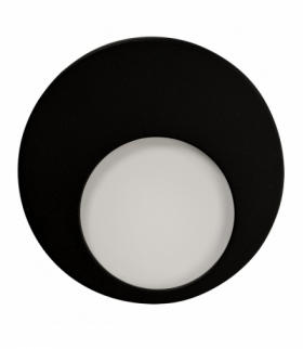 Oprawa LED MUNA PT 14V DC CZARNA - biała ciepła
