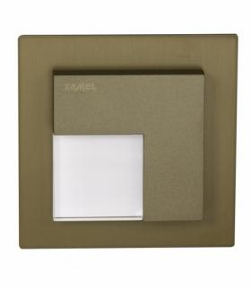 Oprawa LED TICO z ramką NT 14V DC STARE ZŁOTO - biała ciepła