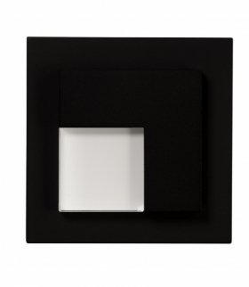 Oprawa LED TICO z ramką NT 14V DC CZARNA - biała ciepła