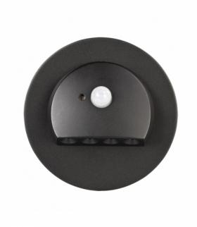 Oprawa LED RUBI PT 230V AC z czujnikiem ruchu CZARNA - biała ciepła