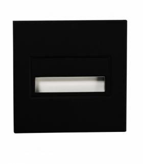 Oprawa LED SONA kwadratowa PT 14V DC CZARNA - biała ciepła