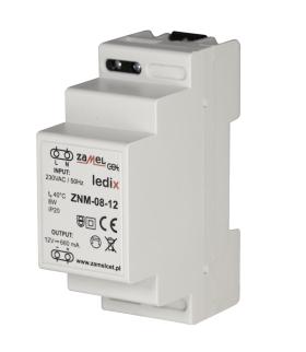Zasilacz LED modułowy 12V DC 8W